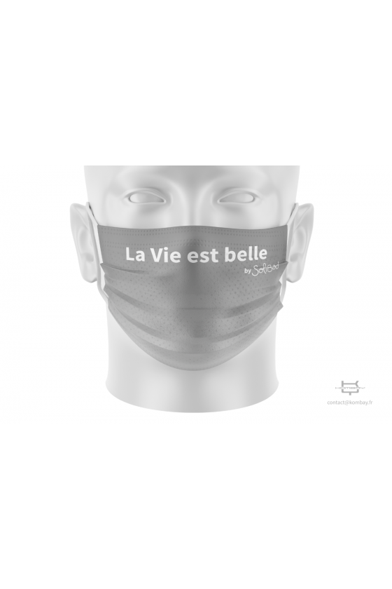 Masque de protection à plis Gris
